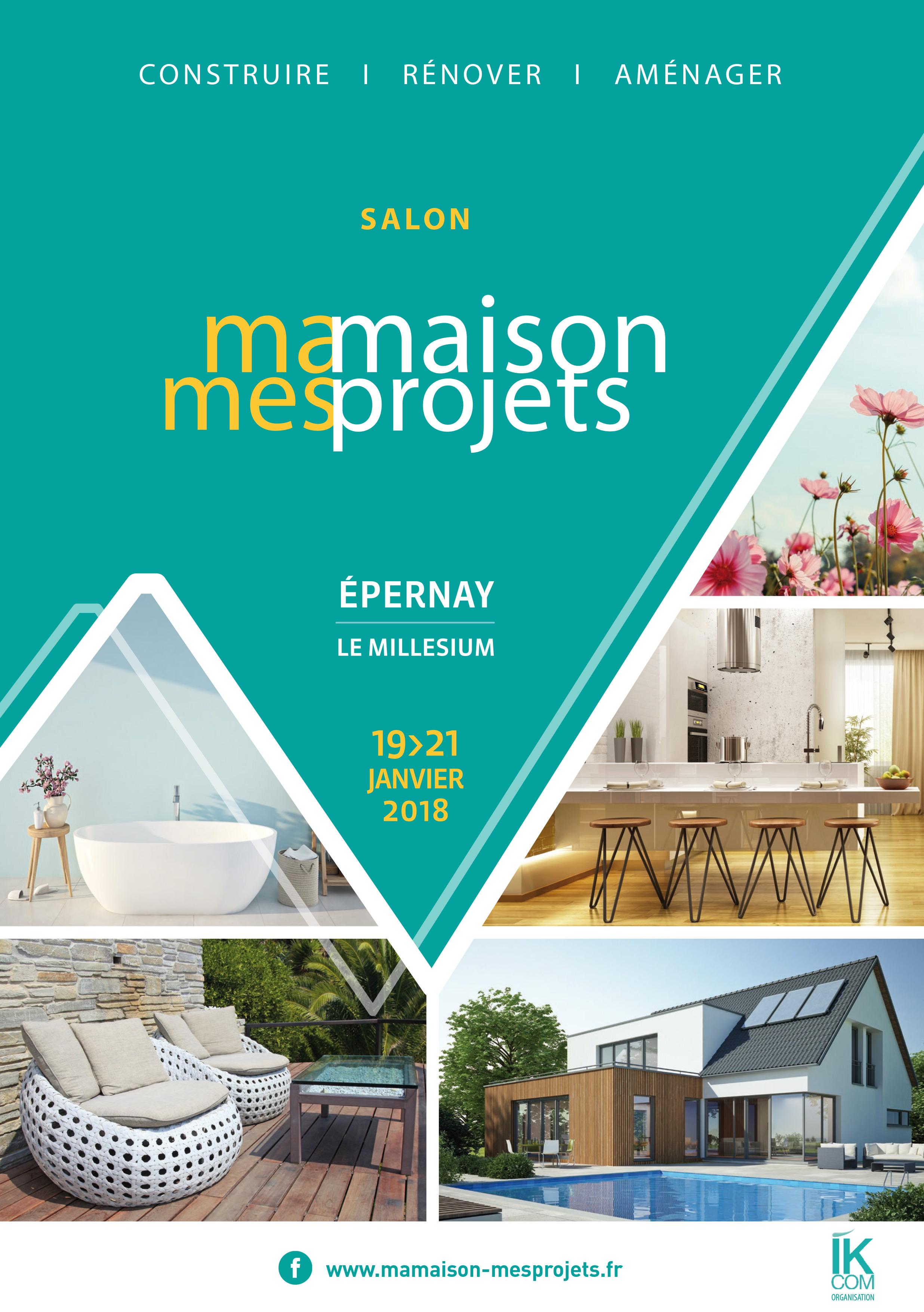 Salon habitat rénovation décoration jardin Epernay Charleville-Mézières. Construire sa maison, concrétiser ses projets. Salon ma maison mes projets.